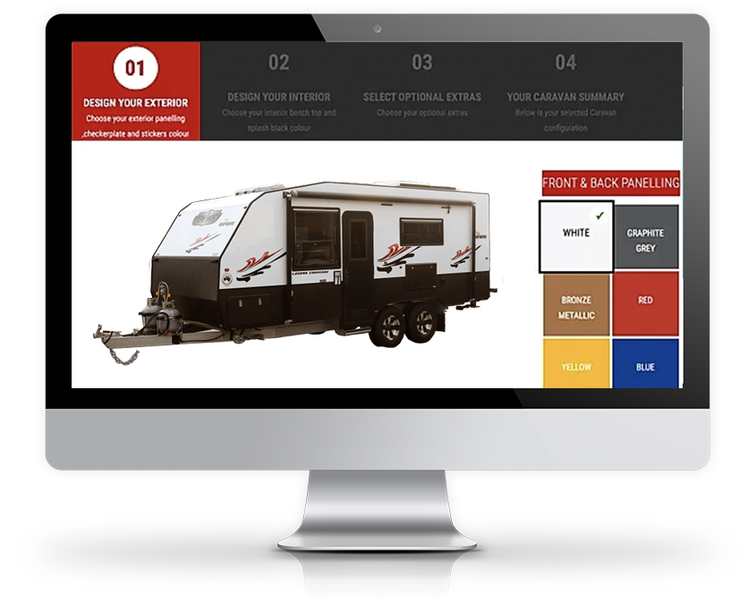 Legend Caravan Colour Selector by Explorer RV